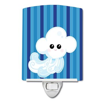 Weather Windy Face Ceramic Night Light BB7157CNL