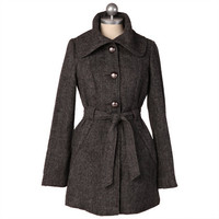 out of the rain slate coat by Tulle