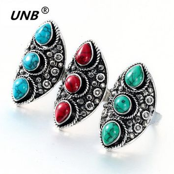 2017 New Vintage Indian Turkish Silver Custom Carving Antique Persian Green Stone Ring Boho Jewelry Ethnic Native American Gifts