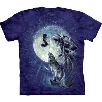 Chenier Wolf Duo Howling At Moon T-Shirt
