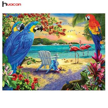 5D Diamond Painting Parrots and Flamingos Kit
