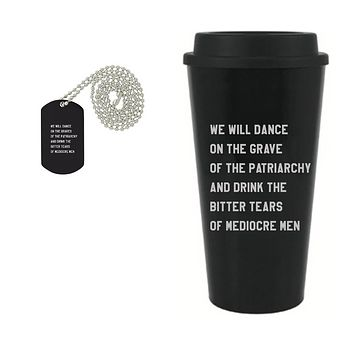 Dance On The Grave Of The Patriarchy Dog Tag Necklace And Coffee Mug Gift Set