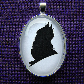 Ursula the Sea Witch Silhouette Cameo Pendant Necklace