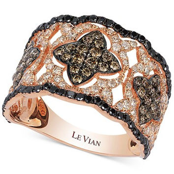 Le Vian Diamond Vintage-Inspired Ring in 14k Rose Gold (1-1/3 ct. t.w.)