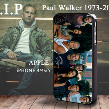 Paul Walker Fast & Furious 5 Brian O'Conner iphone 4 4S case iphone 5 Case
