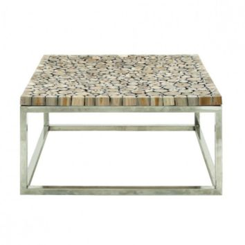 Stainless Steel Teakwood Coffee Table