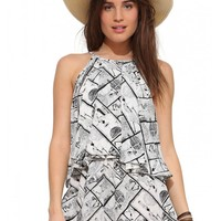 Abstract Brick Romper
