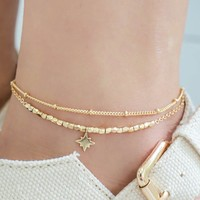 NORTHERN STAR ANKLET - GOLD