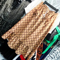 GUCCI Fashion New More Letter Leisure Fish Tail Skirt Women