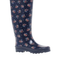 Cath Kidston | Cath Kidston Victoria Rose Navy Rainboot at ASOS