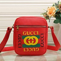 GUCCI Woman Men Fashion Leather Crossbody Shoulder Bag Satchel