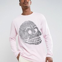 Cheap Monday Gazer Long Sleeve Top Cracked Skull at asos.com