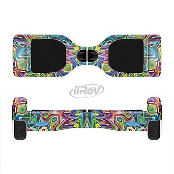 The Crazy Neon Mirrored Swirls Full-Body Skin Set for the Smart Drifting SuperCharged iiRov HoverBoard