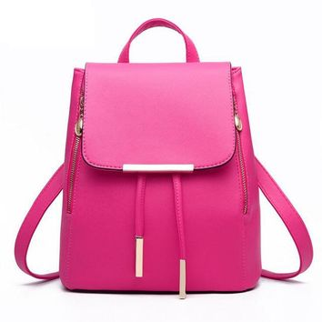 Women Backpack High Quality PU Leather Mochila Escolar School Bags For Teenagers