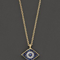 Meira T. Diamond, Sapphire and 14 Kt. Yellow Gold Evil Eye Pendant Necklace - Necklaces - Bloomingdales.com