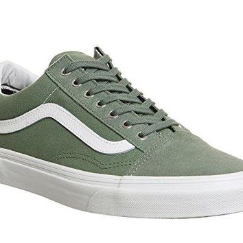 "Vans ""Old Skool Snake"" Sneakers (Sea Spray/Blanc) Men's Classic Skate Shoes"