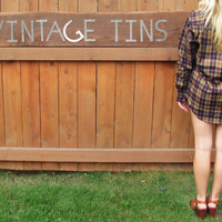 vintage wool blend plaid flannel shirt. NWOT. new old stock. Recess.