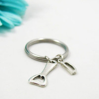 Bottle Opener Keychain - Custom Keychain - Initial Keychain - Personalized Keychain - Initial Key Ring - Personalized Gift - Father's Day