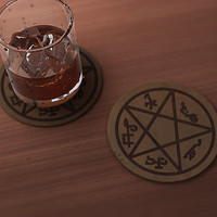 Devil's Trap (Supernatural) Drink Coaster
