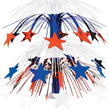 Star Cascade Centerpiece - Red, White, Blue Case Pack 12