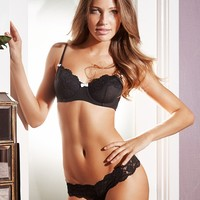 Black Balconette Bra Margaret
