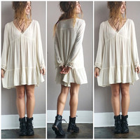 A Boho Bell Sleeve Dress