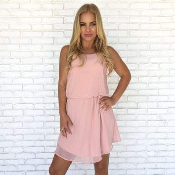 Love Affair Dress in Blush Pink