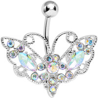 Aurora Gem Victorian Bewitching Butterfly Belly Ring | Body Candy Body Jewelry
