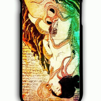 iPhone 6S Plus Case - Hard (PC) Cover with Cthulhu Japanese Octopus Painting Plastic Case Design