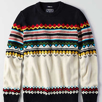 AEO Fair Isle Crew Sweater, Navy