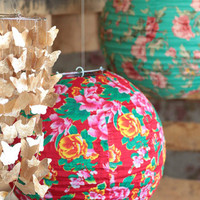 Floral World Lantern - $18.00 : ThreadSence, Women's Indie & Bohemian Clothing, Dresses, & Accessories