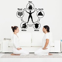 Wall Decals Yoga Life Studio Meditation Gum Decal Vinyl Sticker Home Decor Bedroom Interior Design Art Mural MS745