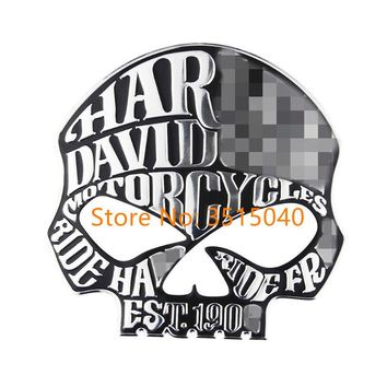 Motorcycle Styling 3D Skull Skeleton Crossbones Car Stickers For Harley Davidson Sticker on Car Automobile Decals Accessories