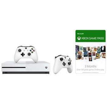 Xbox One S 500GB Bundle with 3-month Game Pass and Extra Controller