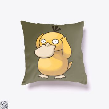 Psyduck, Pokemon Throw Pillow Cover