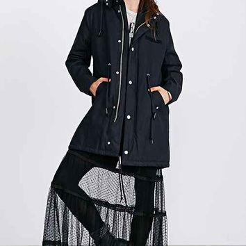 Cheap Monday Wanted Cotton Parka- Black