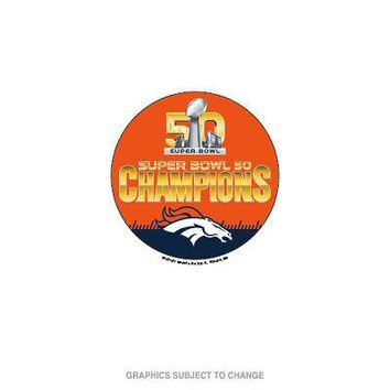 Licensed Denver Broncos Official NFL Super Bowl 50 Champions Button by Wincraft 449955 KO_19_1