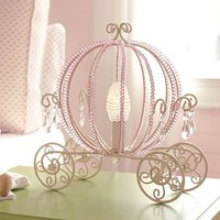 Princess Beaded Carriage Table Lamp