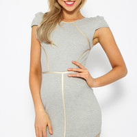 College Shift Dress - Grey