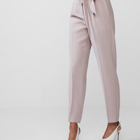 High Waisted Sash Tie Ankle Pant