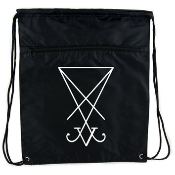 Sigil of Lucifer Cinch Bag Drawstring Backpack Goth Occult Satanic