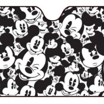 Mickey Mouse Classic Expressions Faces Accordion Style Car Truck SUV Front Windshield Sunshade