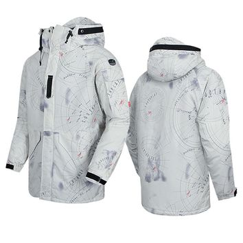 "New Premium ""SouthPlay"" Winter Season Waterproof 10,000mm Warming Ski & Snowboard  Galaxy White Camo Jackets"
