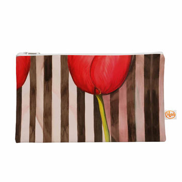 "S Seema Z ""Classic rose"" Red Stripes Everything Bag"