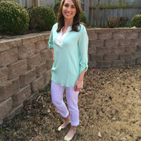 Sunny Day Blouse - 2 Colors Mint Small