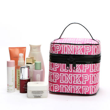 Hot Deal On Sale Hot Sale PINK Beauty Zippers Make-up Bag [11728294415]