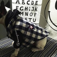 Supreme Pet Dog Cat Puppy Two Sides Cardigan Jacket Coat Vest