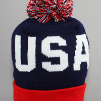 The Fully Laced X Adapt Olympia Collection USA Beanie (Red/White/Blue)