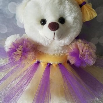 Cheerleader Gift Teddy Bear in your choice of tutu dress color