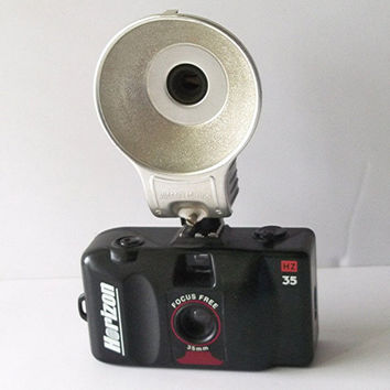 Vintage Horizon 35mm Camera with German Anscoflash by MrsRekamepip